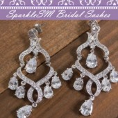 Swarovski Crystal Bridal Earring, Chandelier Drop Earring, SparkleSM Bridal, Wyatt