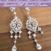 Wedding Bridal Earrings, Bridesmaids Earrings, Wedding Jewelry, SparkleSM Bridal