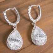 Crystal Statement Bridal Earrings, Wedding Earrings, SparkleSM Bridal, Reese