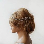 Wedding Rhinestone and Pearl headband
