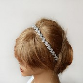 Silver Leafs Hair Wreath