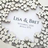 Wood Wedding Guest Book Album Branches - Custom names front page Modern abstract anniversary guestbook album - Laser cut wood covers