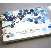 Custom Wedding Guest Book Album Tree Branch - Modern minimalist guestbook album - watercolor painted hardcover guest book ideas