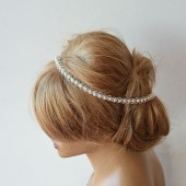 Lace Pearl Wedding Headband