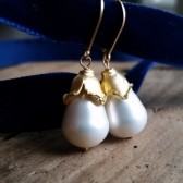 Lilianna Drop Pearl Earrings