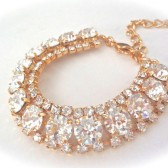 Gold crystal statement bracelet