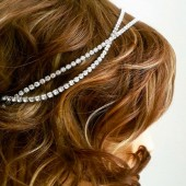 Rhinestone Hairpiece, Gatsby Wedding Headpiece, Bridal Headpiece Head Chain, Crystal Headpiece, Bride Headband, Crystal Headband