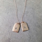 Initial Engraved Mini Tag Necklace