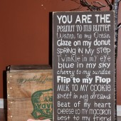 12x24 Wood Sign, Chocolate Brown, LOVE of my LIFE