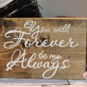 Rustic Wedding Sign, Love Quote