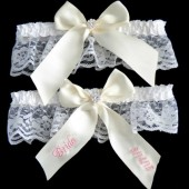 Antique White Bridal Garter Set