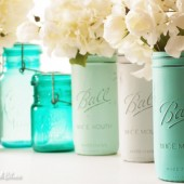 Tortola Painted Mason Jars