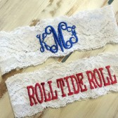 Monogrammed Garter with Alabama toss garter