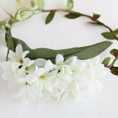 Ivory Bridal Flower Crown, Floral Halo, Woodland Crown, Boho Flower Crown, Bridal Flower Circlet, Flower Girl Crown, Festival Hair Garland