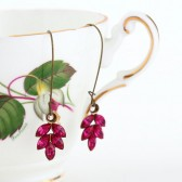 Fuchsia Pink Swarovski Crystal Earrings