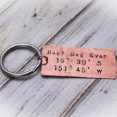 Best Day Ever Longitude & Latitude Key Chain