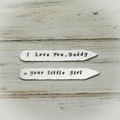Hand Stamped Aluminum Collar Stays