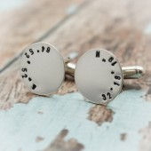 Latitude and Longitude Cuff Links