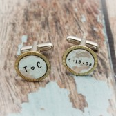Brass and Silver Cuff Links