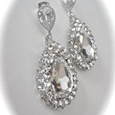 Large crystal teardrop earrings