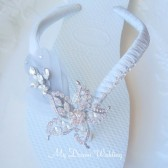 Havaianas silver Flip Flops. Original Australian Starfish, SWAROVSKI and Cz crystals..-Havaianas Collection