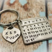 Wedding Date Calendar Keychain