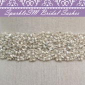 Morgan Pearl Bridal Sash