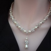 pearl necklace with a pendant