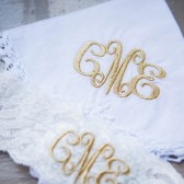 Gold Garter and Handkerchief Set