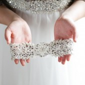 Pearl and Rhinestone Beaded Wedding Garter