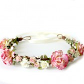 Strawberry Pink Flower Crown