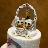 Winter wedding cake topper, owl cake topper, bling cake topper, Christmas cake topper, winter wonderland wedding, red wedding, custom cake topper, love birds, love bird cake topper, sparkly wedding