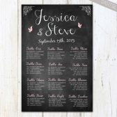 Large Chalkboard Seating Chart Sign