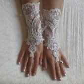 Wedding glove, bridal glove, fingerless lace, steampunk, Sparkle gloves, victorian, lolita, sexy belly dance, hand sewing
