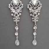 long crystal rhinestone chandelier statement earrings