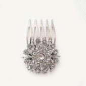 Bridal Rhinestone Comb, Wedding Hair Comb, Bridal Hair Accessory, Bridal Brooch HairComb