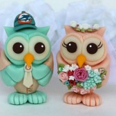 owl cake topper, wedding cake topper, custom cake topper, Etsy