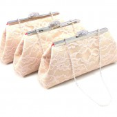 Champagne, Blush Pink and Coral Bridesmaid Clutches