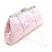 Light Pink and Ivory Bridal Clutch