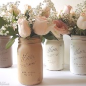 Harvest Quart Painted Mason Jars