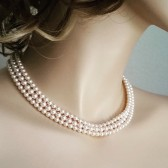Blush Pearl Bridal Necklace