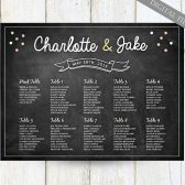 Chalkboard Seating Chart Idea - Any color