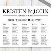 Modern & Elegant Seating Chart - Black & White