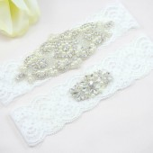 Crystal and Pearl Wedding Garter