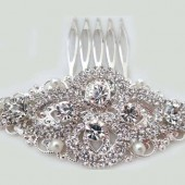 Bridal Crystal Hair Comb Diamond Rhinestone Wedding Hair Comb Old Hollywood Bridal Hair Accessories