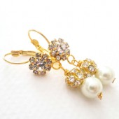 Bridal Gold Earrings