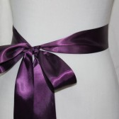 Plum Ribbon Sash