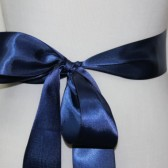 Navy Blue Ribbon Sash
