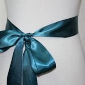 Teal Ribbon Sash