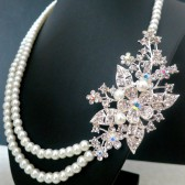 Bridal Brooch Necklace